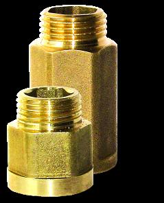 Переходники прямые В*Н(удлинители) латунь / никель