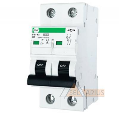 Модульный автоматический выключатель FB1-63 ECO 2P B1 - фото