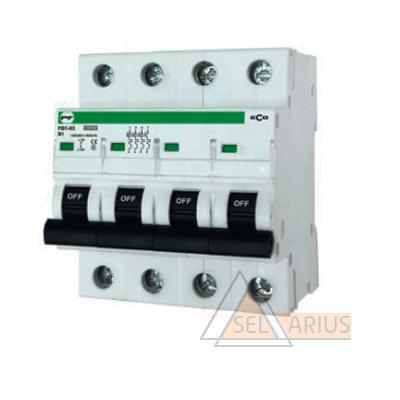 Модульный автоматический выключатель FB1-63 ECO 4P B1 - фото