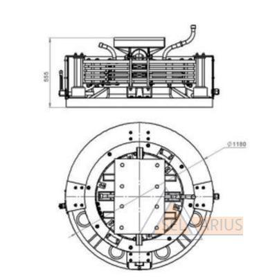 Габаритные размеры токоприемника кольцевого ТКМ