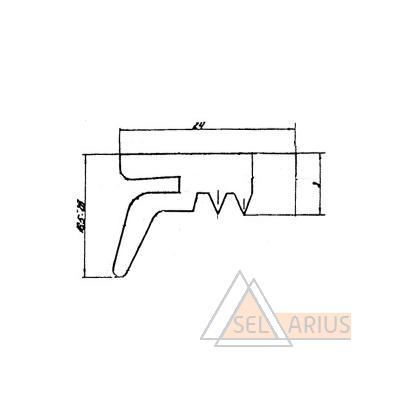 Профиль ПР-317 - габаритный чертеж