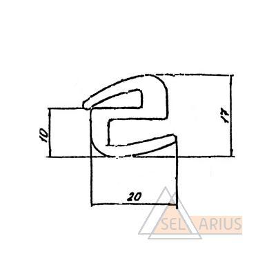 Профиль ПР-329 - габаритный чертеж