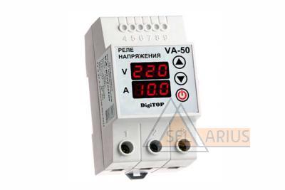 Фото реле с контролем тока VA-protector 50A