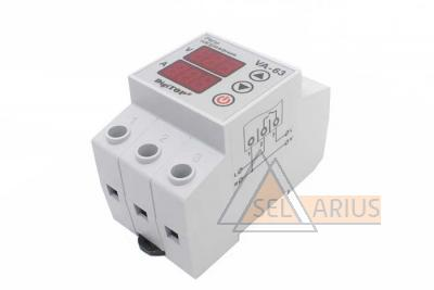 Реле с контролем тока VA-protector 63A фото №1