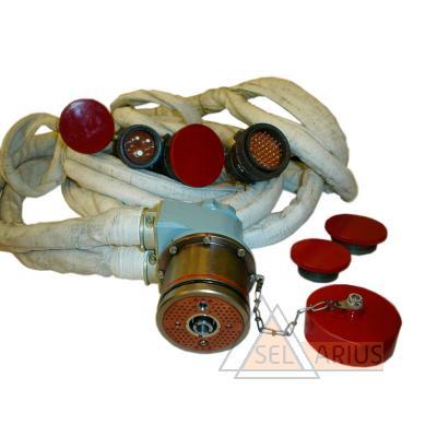 Фото розетки контрольной РК-100 и РК-100-01 со жгутами