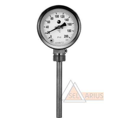 Фото термометра D63мм/L100мм-Р