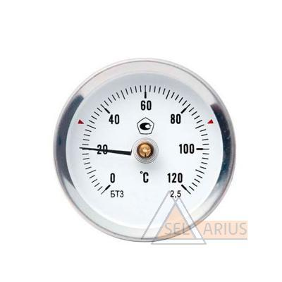 Фото термометра биметаллического трубного накладного прижимного
