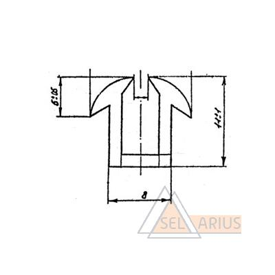 Уплотнение 303-01 РТМ32ЦВ206-80 - габаритный чертеж