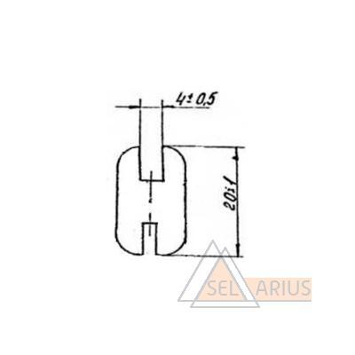 Уплотнение 335 РТМ32ЦВ206-80 - габаритный чертеж