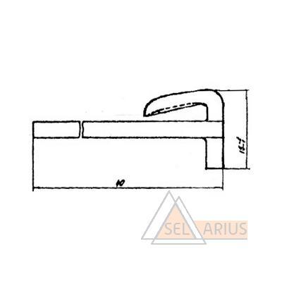 Уплотнение 54030-Н - габаритный чертеж