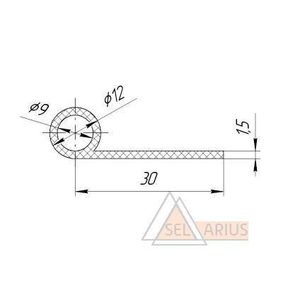 Уплотнение ПР-76 - габаритный чертеж 1