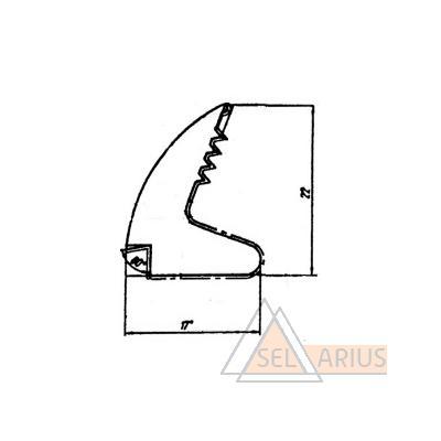 Уплотнитель стеклопакета внутренний Р-006-02 - габаритный чертеж