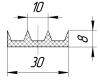 05.013.004 - уплотнение верхней части обкладки двери (92.2335.3355.0053.001) фото 1