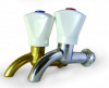 Кран водозаборный КрН 15 латунь / никель