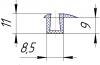 Уплотнитель 3-22771 (Профиль окна Н560А) фото 1